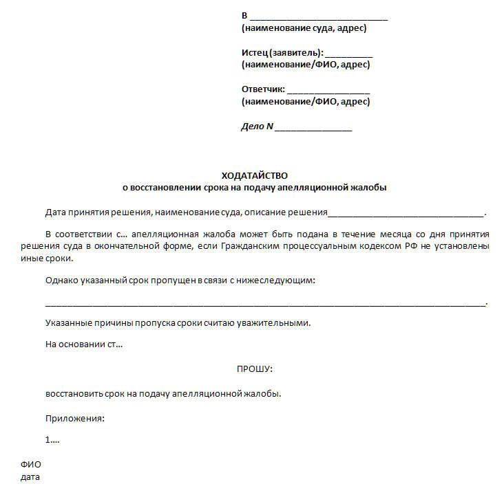 Апелляционное заявление удо