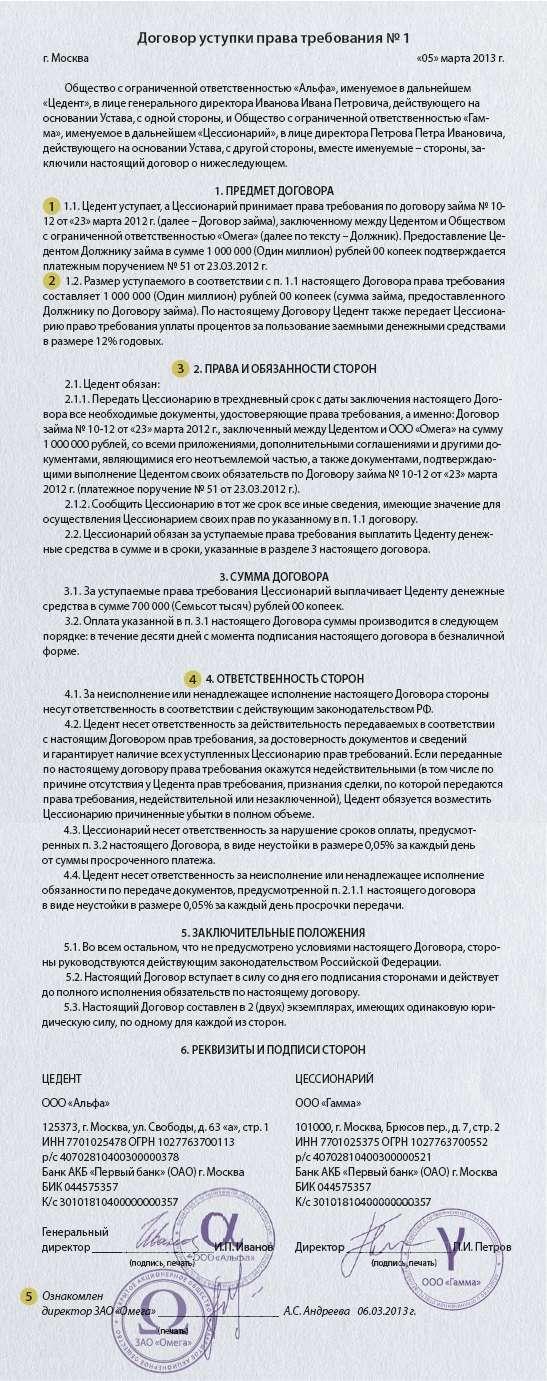 Договор переуступки прав по предварительному договору образец