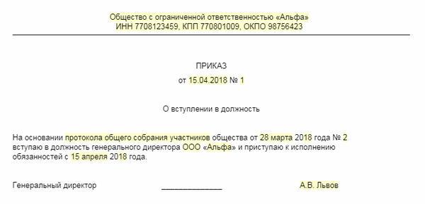 Нужен ли приказ на директора при регистрации ооо заполняем декларацию 3 ндфл в 2019 году